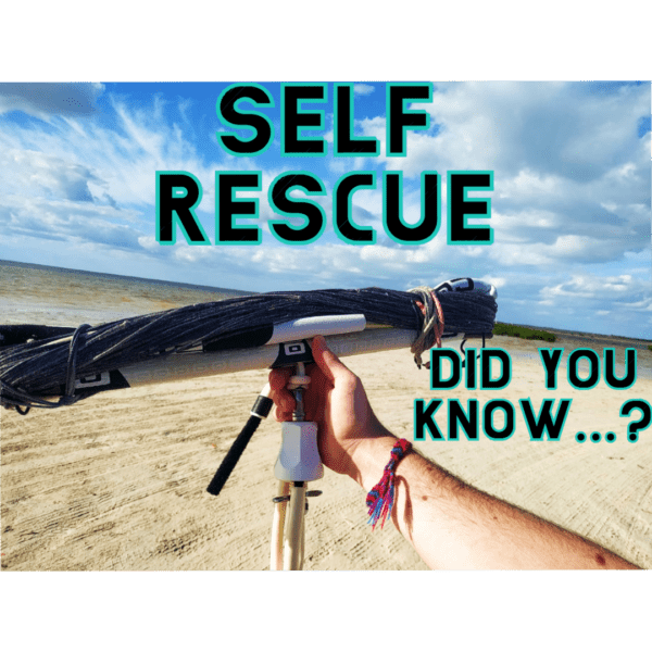 Kitesurfing self rescue how to, the must know kite skill